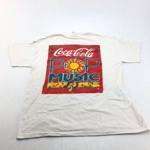 Vtg 1991 Coca Cola Pop Music single stitch tshirt